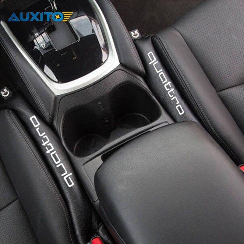 2шт для Audi А3 А4 В6 В8 В7 В5 А6 С5 С6 80 ТТ В5 В7 В3 А5 А7 А8 А1 А2 С3 С4 Кватро s линии логотип Автокресло GAP наполнитель Прокладка подушечка
