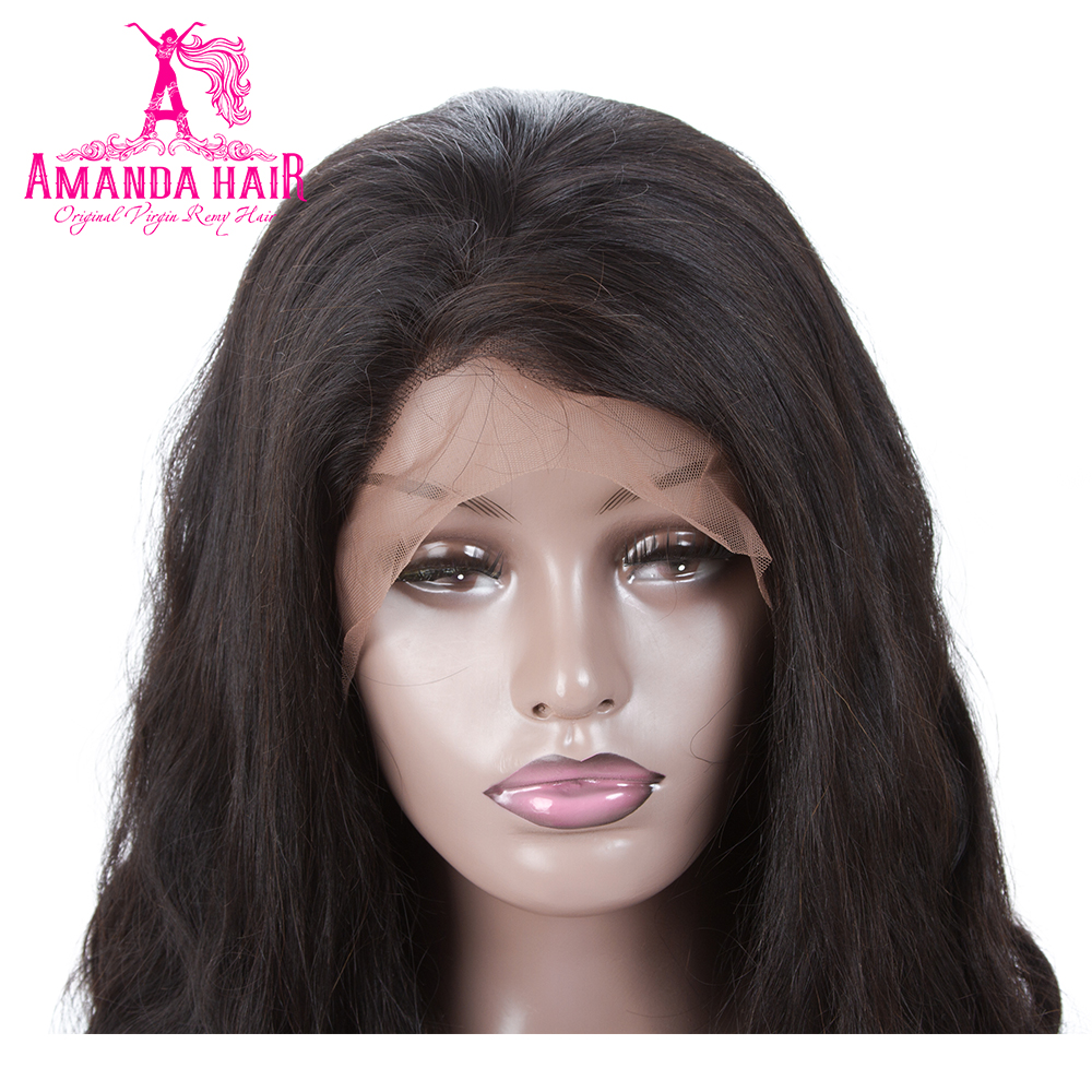 Amanda Malaysian Body Wave Lace Front Human Hair Wigs Pre Plucked 150% Density Natural Color Frontal Lace Wigs for Black Women