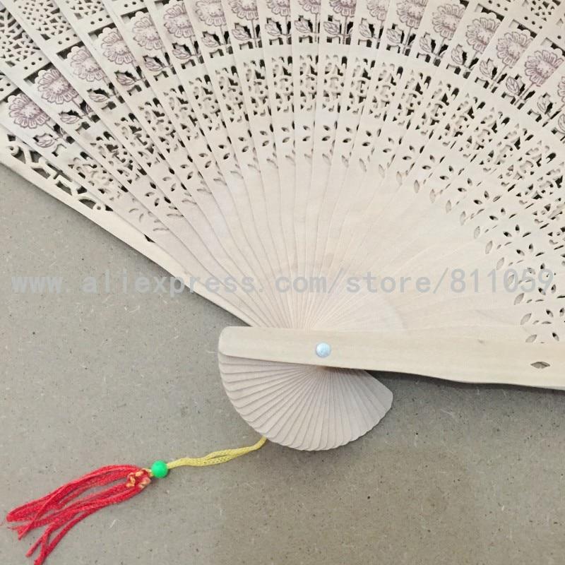 Envío gratis 50 unids / lote diseño de girasol ventilador de madera - Para fiestas y celebraciones - foto 6