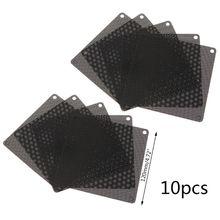 10 sztuk 120MM pcv wentylator filtr pyłowy PC obudowa pyłoszczelna Cuttable komputer osłona z siatki czarny X6HA tanie tanio BGEKTOTH NONE CN (pochodzenie) Do obudowy komputerowej Brak RADIATOR 101415