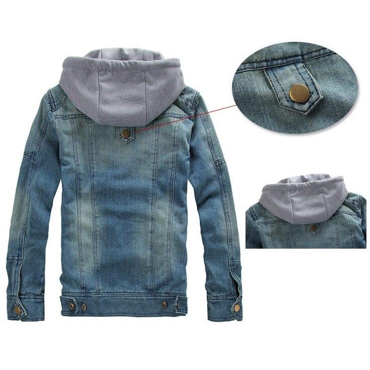 Casuales Hombre Desmontable Con 5xl Primavera M Hombres Y Moda Tamaño Nueva Chaqueta Plus Chaquetas Los Para Otoño Jeans Blue De Capucha ~ wPg04x8qZ