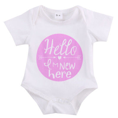 Newborn Baby Girl Boy Clothes Quote Bodysuit Jumpsuit Outfits One