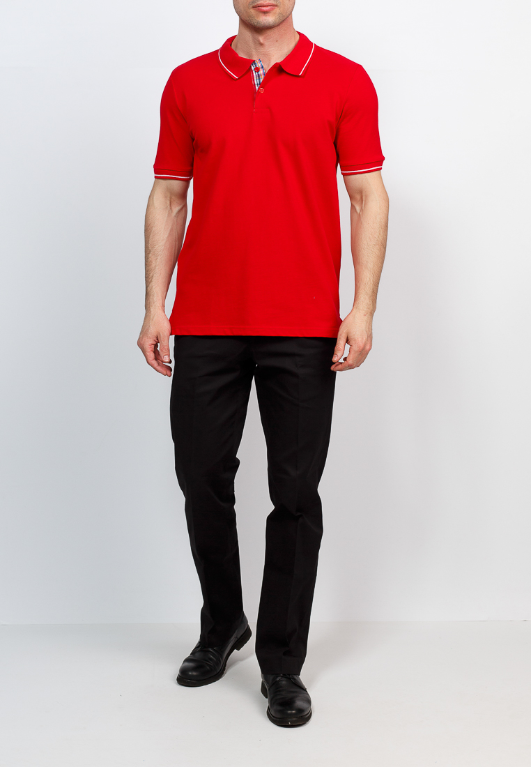 T Shirt polo short sleeve GREG G134 (red) Red letter embroidered turn down collar short sleeve men s polo t shirt