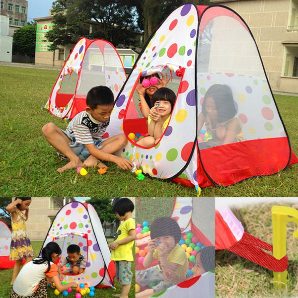 Children Kids Favor Playground Play Tents Portable Folding Garden Toy Tent Castle Pop Up Indoor Outdoor House Multi function-in Toy Tents from Toys ... & Children Kids Favor Playground Play Tents Portable Folding Garden ...