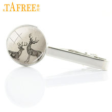 TAFREE new vintage men tie clips Hodgepodge Originality Cat Geometric Ocean Sea Conch Hippocampus Horse tie bar pin jewelry A502(China)