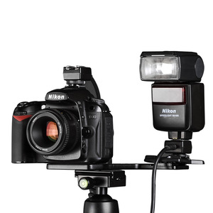 Image 4 - חדש הגיע! Manbily פלאש סוגריים פלאש תמיכה עבור מצלמה ופנס להחזיק מצלמה ופנס באותה הרמה MBL FB