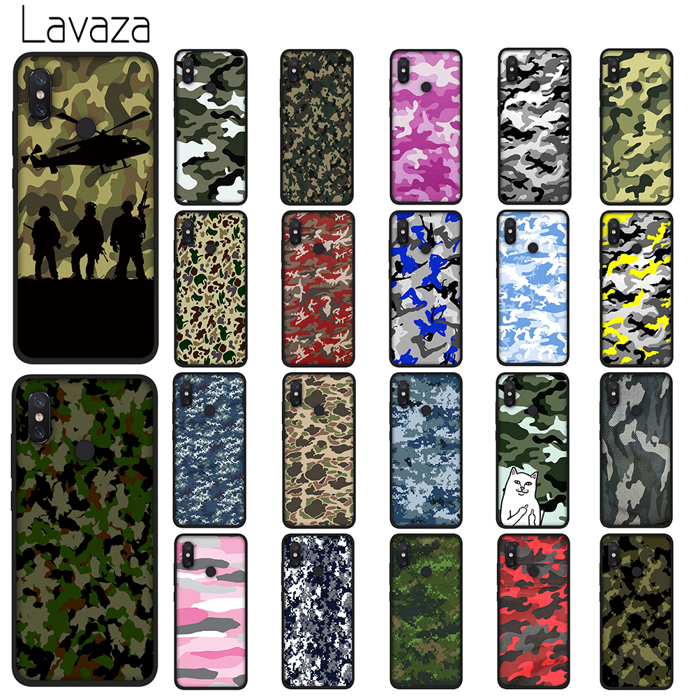 Lavaza Camouflage Pattern Soft TPU Case for Xiaomi Redmi Note 5 6 7 Pro for Redmi 5A 6A S2 5 Plus Silicone Cover in Fitted Cases from Cellphones Telecommunications