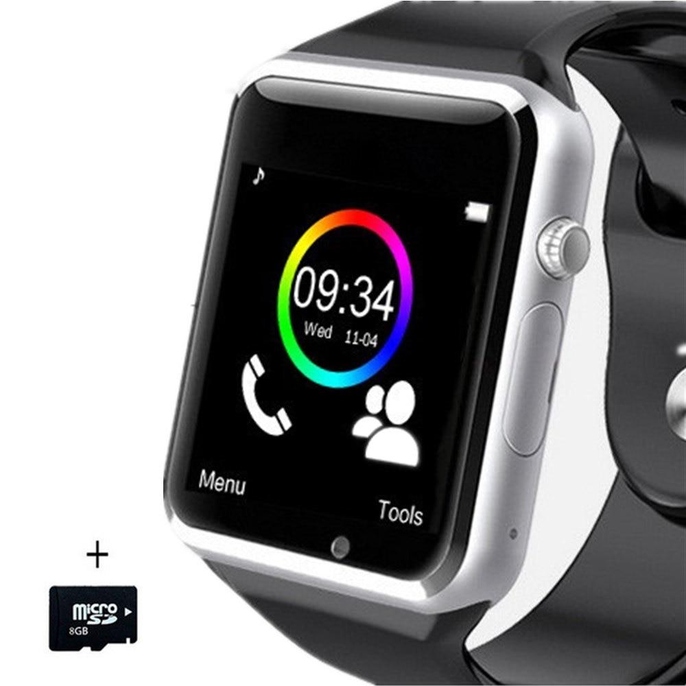 New A1 Bluetooth Smart Watch Sport WristWatch Pedometer Tracker Smartwatch For Android Xiaomi Huawei Russia T15 PK DZ09 GT08 M26