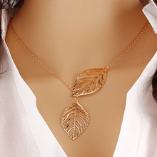 Simple Fashion Alloy Necklace High Quality Tree Leaf Charm Pendant Chokers Neclaces For Women Girl Fashion Jewelry Gift(China)