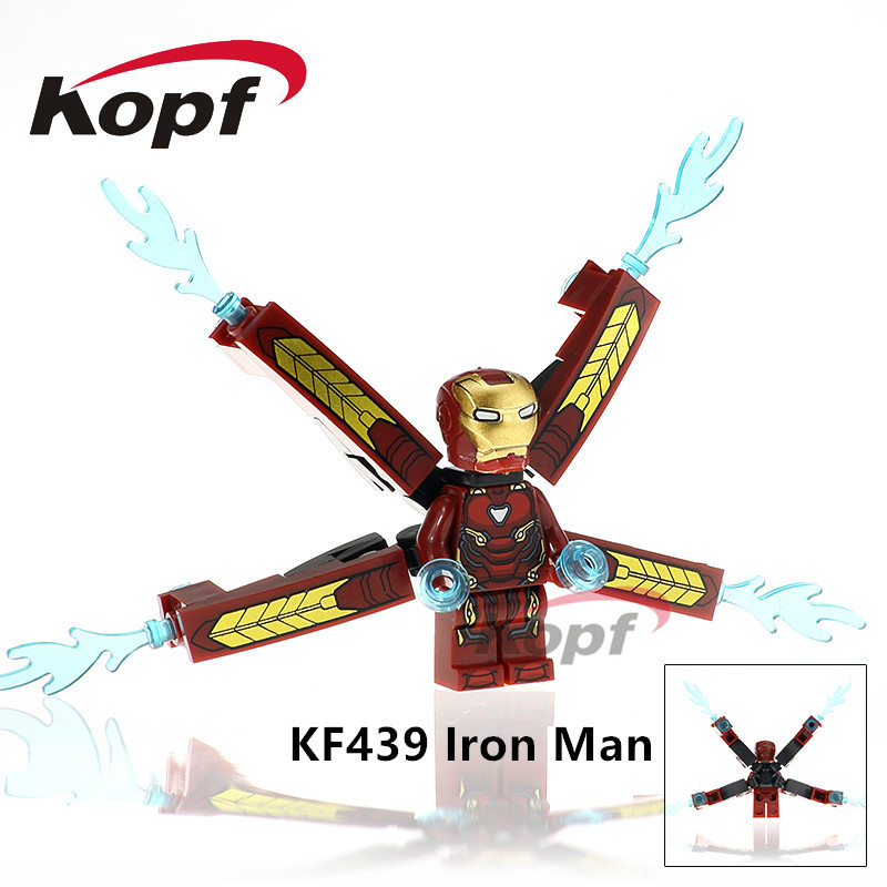 Building Blocks Super Heroes Single Sale Iron Man INFINITY WAR Captain America Outrider Iron Spider Bricks Kids Gift Toys KF439 single sale super heroes thor spiderman captain america batman hawkeye bricks action building blocks toys for children xh 004
