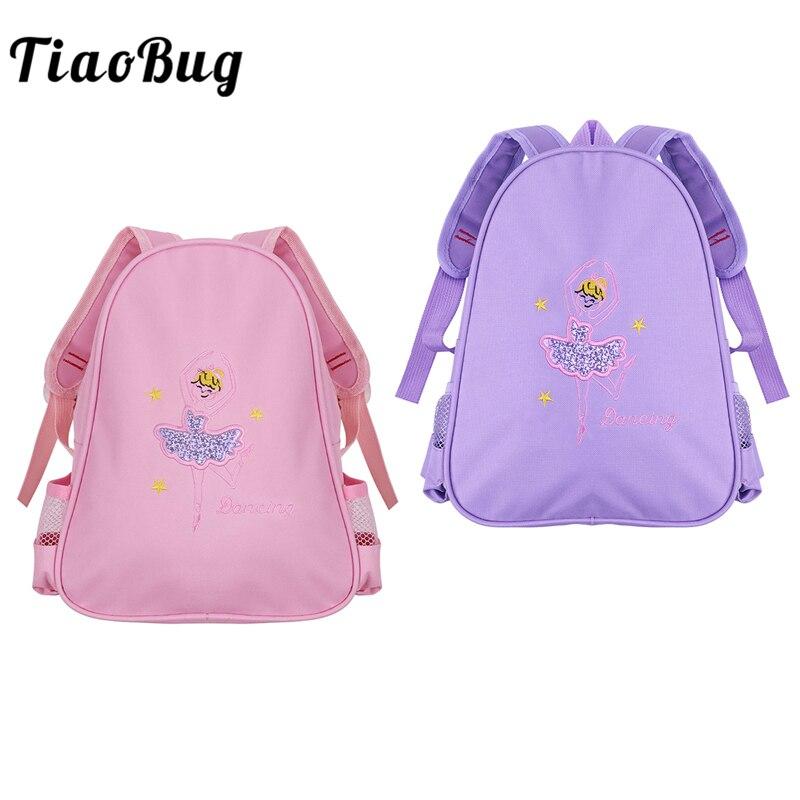 Symbol Of The Brand Tiaobug Girls Ballet Bag Dance Class Backpack Kids Students School Backpack Shiny Embroidery Ballerina Dancing Shoulder Rucksack Complete In Specifications