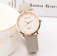 d973455e Самые популярные марки Для женщин розовое золото кожа часы Роскошные модные  платья женские часы Повседневное Ретро