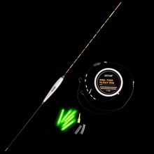 Goture 1PC Vertical Buoy Fishing Floats with Tube + 1PC Float Rig + 5PCS Glow Light Stick For Carp Fishing Float Fishing Tackle