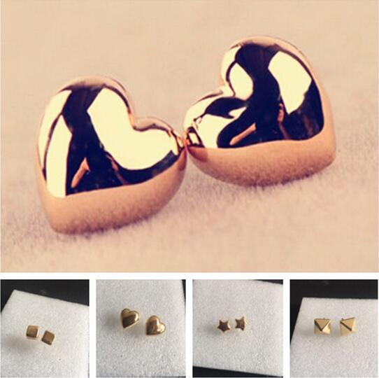 Серьги для свадебной вечерние Новая мода Сладкий металлический сплав сердце геометрический квадратный пятиконечная звезда женские серьги бижутерия 1 пара