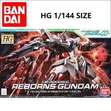 Original Japan Gundam Model HG 1/144  Reborns GUNDAM 00 Unchained Mobile Suit Kids Toys