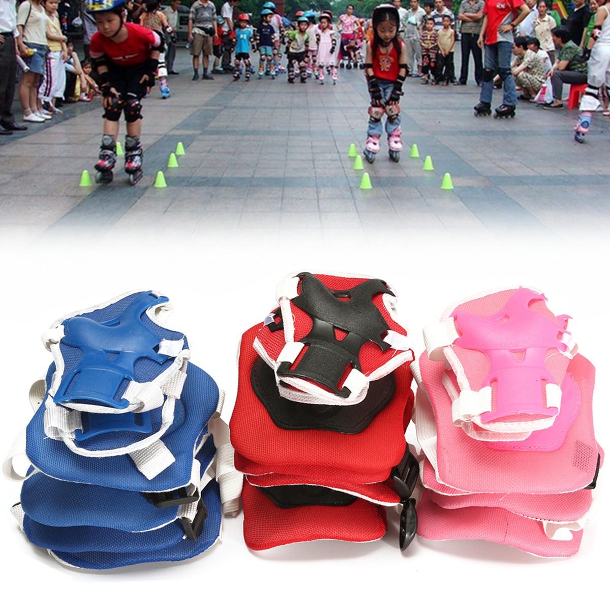 6 pcs/ensemble Enfants Scooter Vélo Rouleau De Patinage Vélo De Protection Patins Ensemble Genouillères Garde Coude Poignet Protecteur Protection Pad