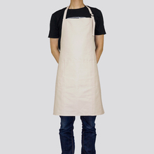 KEFEI New Unisex adjustable BIB Beige Apron sexy Artist cotton apron for kitchen waxed canvas tool pinafore