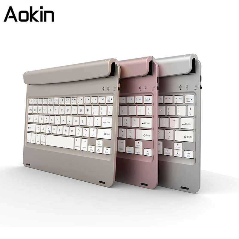 Ultra Thin Mute Stand Holder Wireless Bluetooth Keyboard For IPad Air 2 Ipad Pro 9 7
