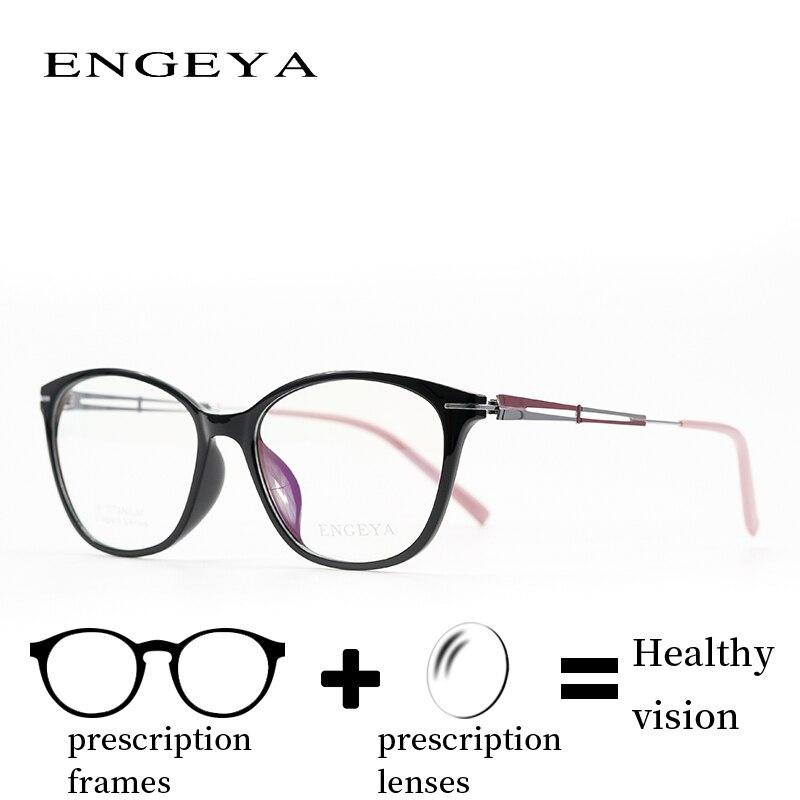 Bekleidung Zubehör Ultraleicht Optische Gläser Titan Rahmen Frauen Noughts Null Marke Designer Computer Myopie Rezept Brillen Rahmen # F004 Neueste Technik Korrektionsbrillen