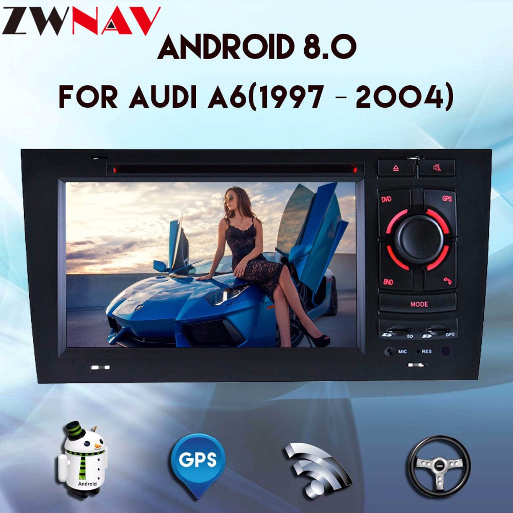 2 Din <font><b>Android</b></font> 8.0 Car DVD player For <font><b>AUDI</b></font> <font><b>A6</b></font> 1997-<font><b>2004</b></font> GPS Navigation Multimedia WIFI Audio Stereo Radio Headunit 4G+32G 8 core image