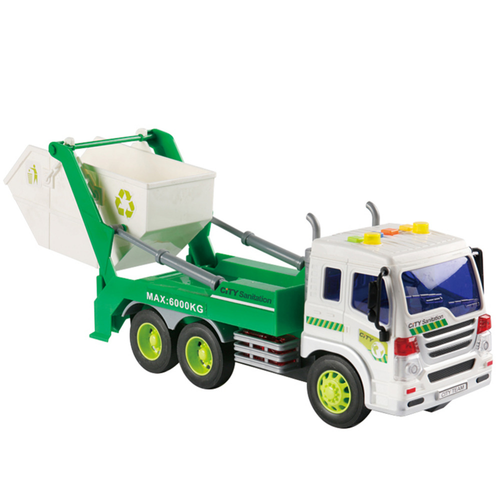 Kids Truck Model Toys ABS Material Materials Handling Truck Cleaning Vehicle Models Garbage Truck Sanitation Trucks Clean Car