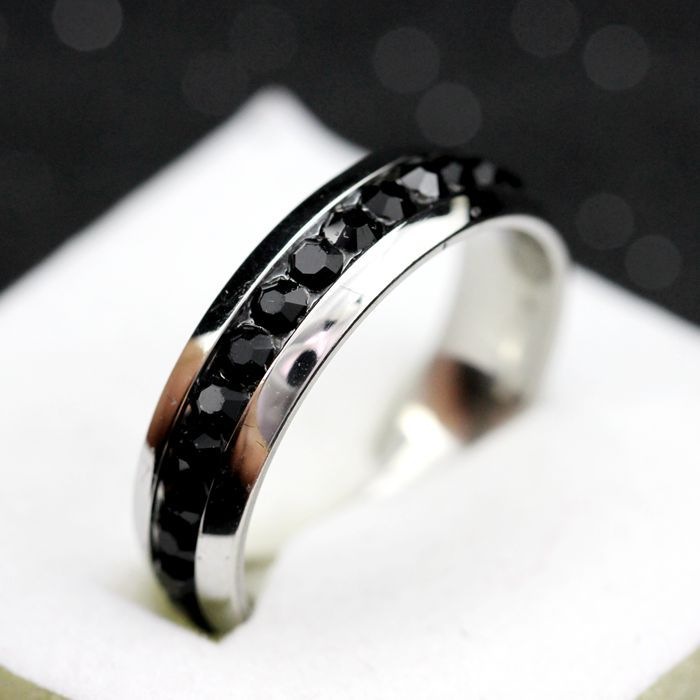 5 off stainless steel ring mens titanium black wedding rings for women cubic zirconia bijuterias alibaba express uloveido yl006 in rings from jewelry - Black Wedding Ring For Him