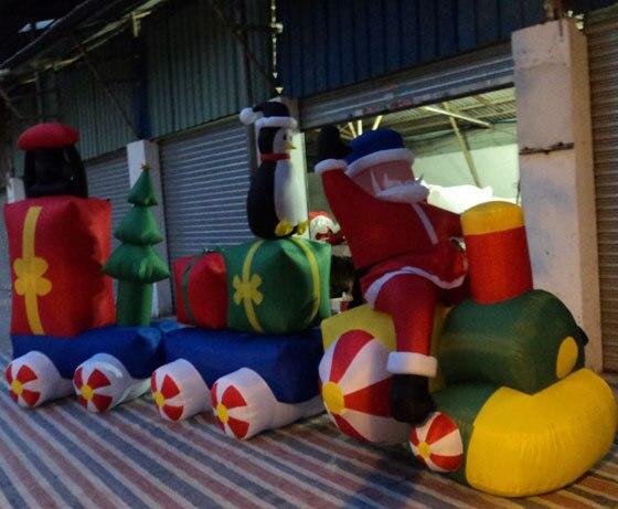 Надувной Рождественский Санта Клаус Снеговик Декоративный Рождественский олень для дома детские игрушки надувные рождественские игрушки - 3