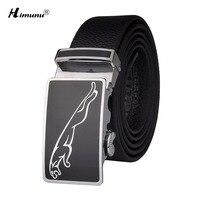 Himunu Automatic Buckle Genuine Leather Belt For Men Luxury Leopard Designed For Business Men Belts High