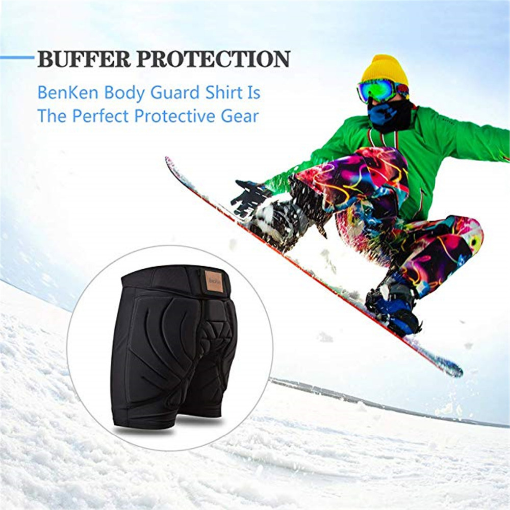 BenKen Ski Butt Pants Hip Protection Butt Guard for Skateboarding Skiing Riding Cycling Snowboarding Overland Racing Armor Pads 28