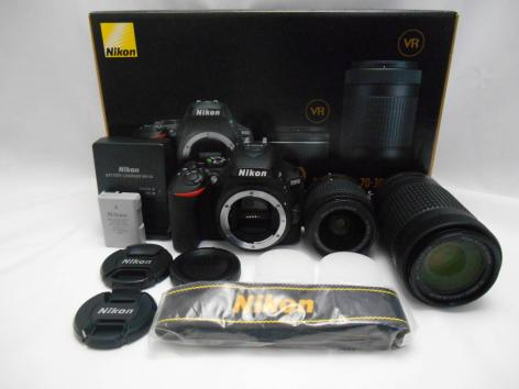 Nikon D5600 cuerpo de la cámara DSLR y AF-P 18-55mm y AF 70-300mm Kit de lentes