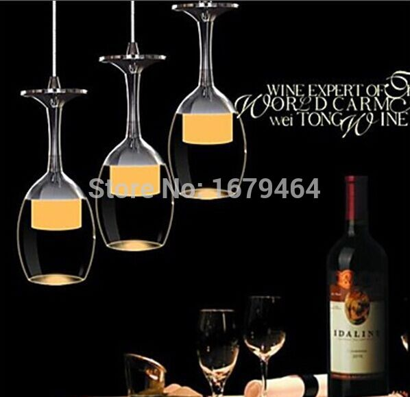 Free Shipping 3Wx3 LED Light Cup Chandelier Light Wineglass Pendant Lamp for Living Room Bar Saloon Dining Room 110-240v 20 beige free shipping crystals string pendant light elegant living room pendant lamps fabric dining room pendant lamp