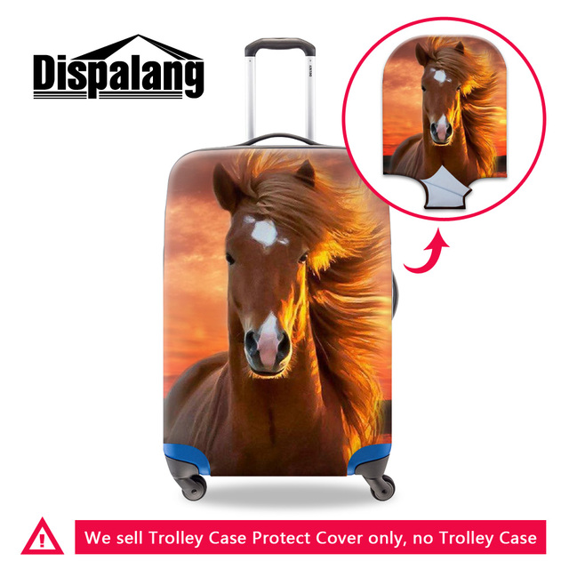 Dispalang new elastic luggage protective cover personalized horse printing travel trolley case covers hot styilsh stretch cover
