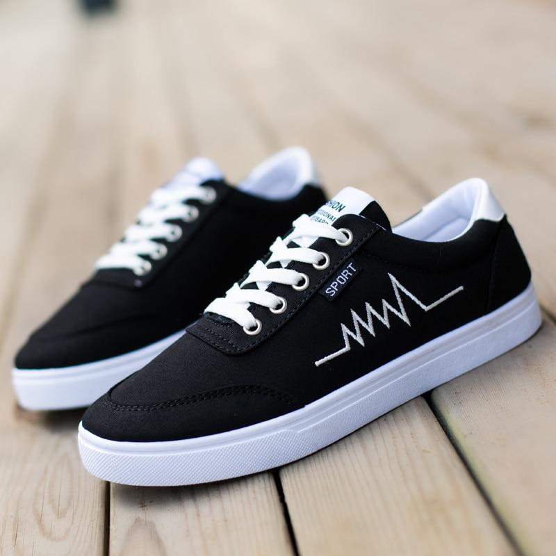 2017 Hot New Arrive Low Classic Men Canvas Shoes White Flat Unisex Fashion Breathable Shoe