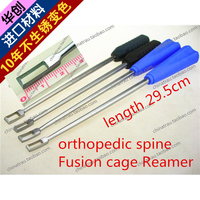 medical orthopedic instrument Spinal open circuit gouge Square chisel angled Osteotome fusion cage PEEK Scraper Reamer tool AO