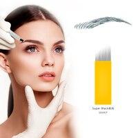 Biomaser 14 Pins 0.3mm Microblading Needles Shading Blade Tattoo Needles Microblading Needle Eyebrow Needle High Quality