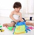 Caja de juguetes Bolsa de Bolsa de Playa de Baño Verano Portable Llevar Juguetes Pelota De Playa Organizadores Juguete Malla Diseño Del Cabrito de Los Niños