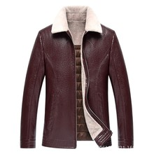 Hot Men's Genuine Leather Jackets Coats New Winter Thick Casual Jaqueta Men High Quality Plus velvet thickening Outerwear M-3XL