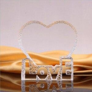 Image 3 - 개인화 된 사용자 정의 크리스탈 유리 심장 빙산 사진 액자 엄마 아내를위한 최고의 선물 생일 결혼 기념일 기념품