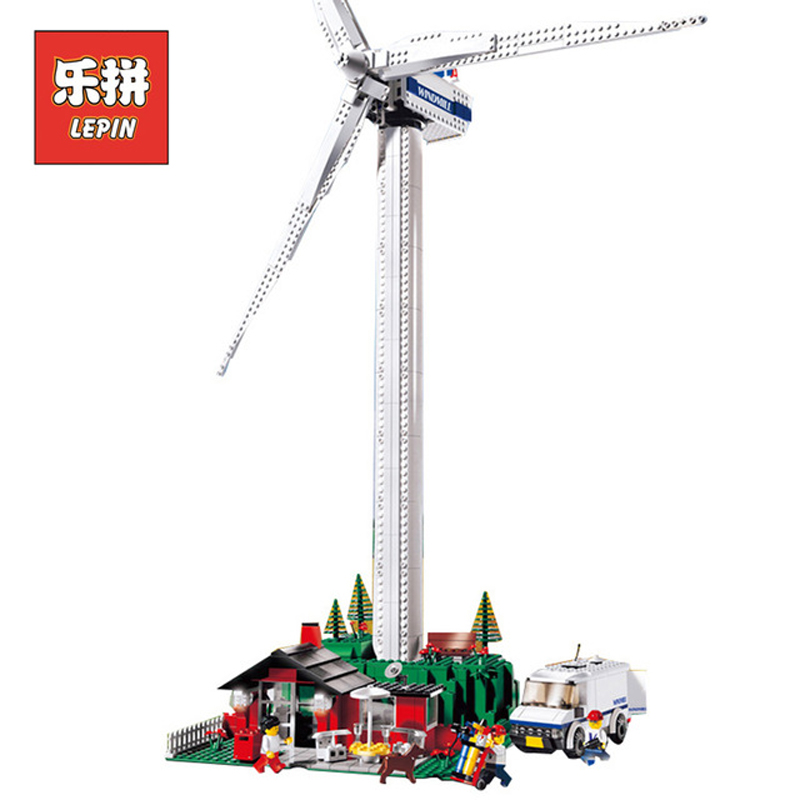 In Stock DHL Lepin Sets 37001 871Pcs City Figures Vestas Wind Turbine Model Building Kits Blocks Bricks Educational Kid Toy 4999 lepin 37001 creative series the vestas windmill turbine set children educational building blocks bricks toys model for gift 4999