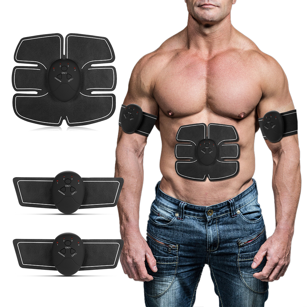 EMS Electric Pulse Massager Abdominal Muscle Trainer Wireless Sports Muscle Stimulator Fitness Weight Loss Body Slimming Slim