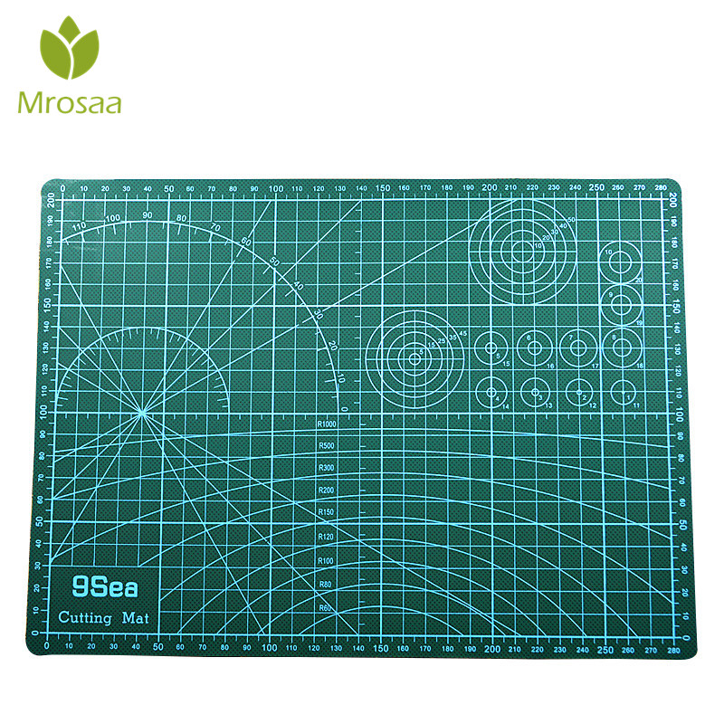 Mrosaa A3 PVC Cutting Mat Cutting Pad Patchwork Cut Pad Patchwork Tools Manual DIY Tool Cutting Board Double-sided Self-healing