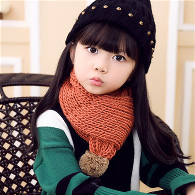 Мальчиков и Обувь для девочек Зимний шарф Корея универсальные Baby Bib Детский комплект вязаный шерстяной шарф прилив продукты