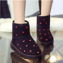 2016 Fashion Women Boots Round Toe and ankle flock Snow Boots Slip-On Fashion mixed color winter boots Women snow boots