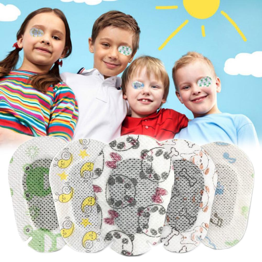20Pcs Cartoon Amblyopia Eye Patches Colorful Child Amblyopia Training Orthoptic Corrected Eyeshade Occlusion Medical Eye Patches