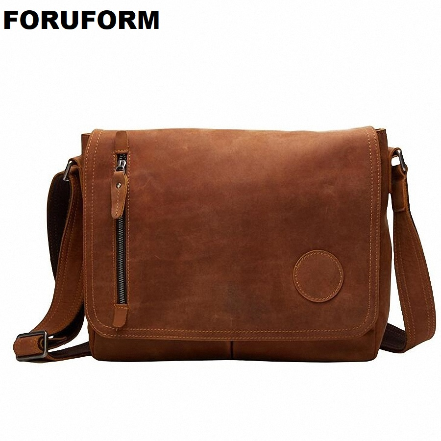 100% Cow Leather Men Messenger Bag Casual Business Vintage Men's Bag Genuine Leather Shoulder Bag Crossbody Bag LI-1947 контроллер аудиопроцессор behringer подавитель обратной связи fbq1000 feedback destroyer