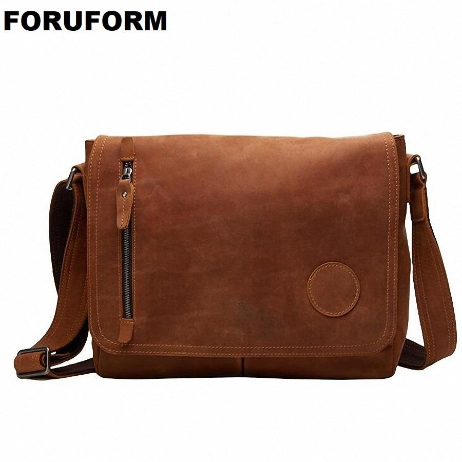 100% Cow Leather Men Messenger Bag Casual Business Vintage Men's Bag Genuine Leather Shoulder Bag Crossbody Bag LI-1947 planet nails гель magic gel магнитный 5 г 8 оттенков гель magic gel магнитный 5 г 5 г синий