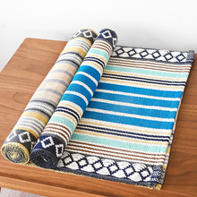 Cotton Carpet Living Room Dining Bedroom Area Rugs Anti-slip Hallway Floor Mats Modern Bathroom Carpet Yoga Mat Home Textile