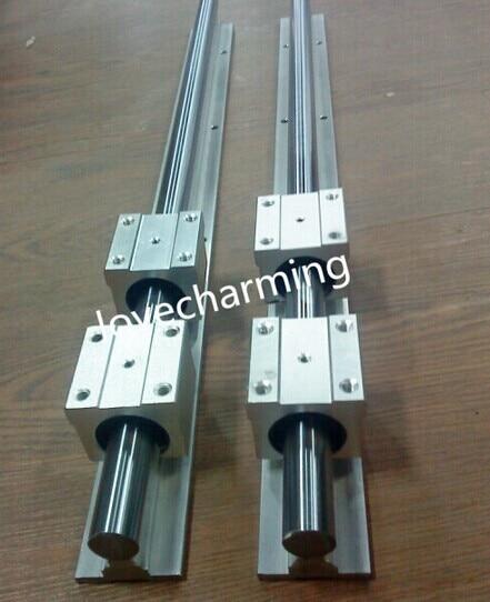 SUPPORTED LINEAR RAIL SHAFT 8 pcs SBR12UU Bearing 2X SBR12-1500//1800mm