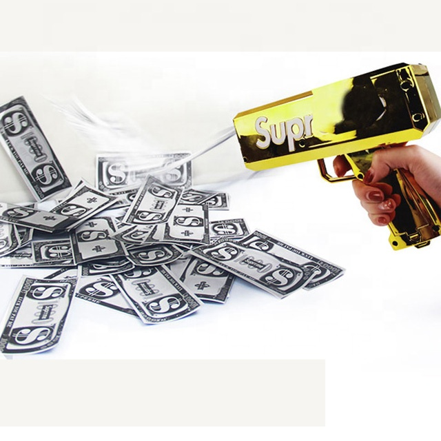 Smile Party Powerful Cash Banknote Gun Paper Banknote Spray Gun USB Or Battery
