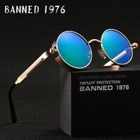 2017 HD Polarized Round Metal Sunglasses Uv400 Men S Sun Glasses Feminin Women S Vintage Gafas